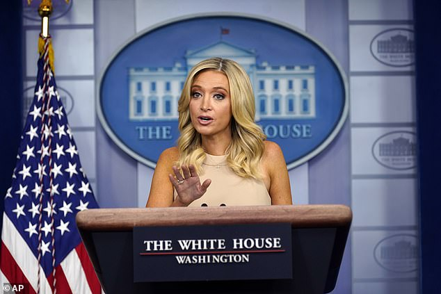 White House press secretary Kayleigh McEnany told reporters that President Trump was the 'most informed person on planet earth' after a White House reporter suggested that he may have missed intelligence on Russia paying bounties because he didn't read it
