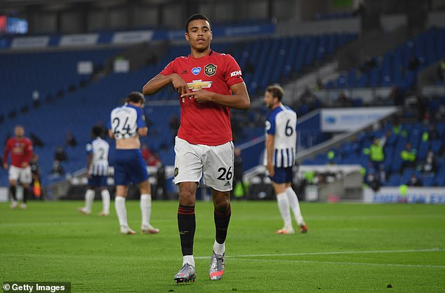 Mason Greenwood shone for Manchester United as they easily beat Brighton 3-0 on Tuesday