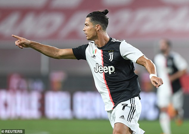 Cristiano Ronaldo fired home as Juventus eased past Genoa to edge closer to the Serie A title