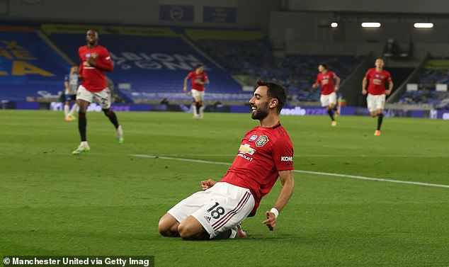 Bruno Fernandes starred with two goals as Manchester United completed a dominant win away to Brighton on Tuesday night
