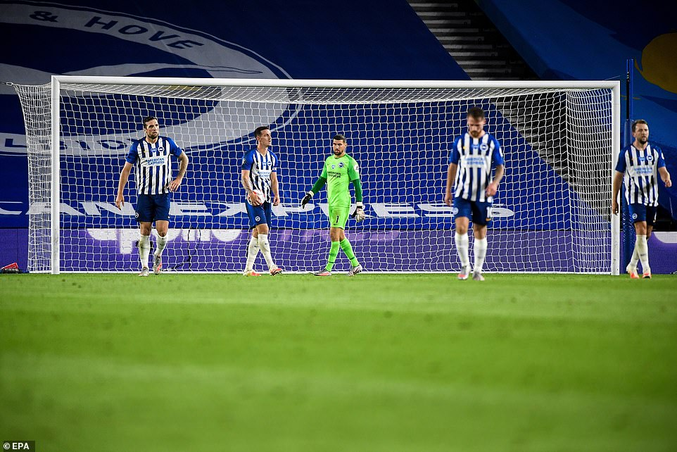 Brighton suffered their first defeat since the Premier League season restarted following the coronavirus pandemic