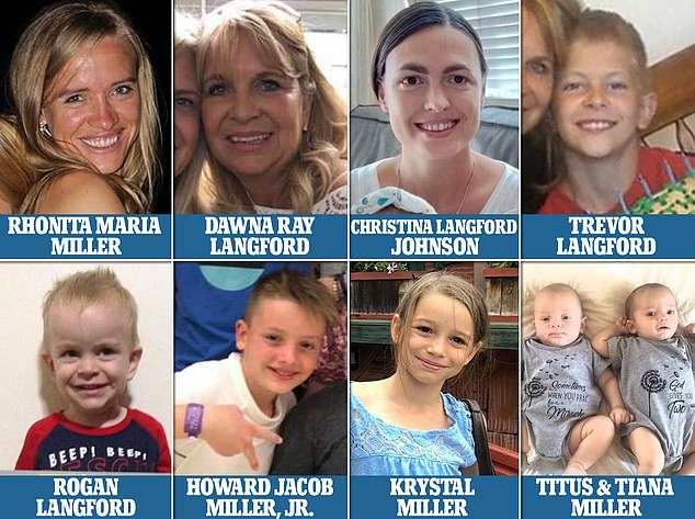 Pictured: The three mothers and six young children who were savagely murdered by Mexican drug cartel gunman on November 4, 2019