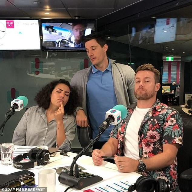 Over: In September 2018, Em announced she was leaving the show. Ed and Grant went on to host their own breakfast show at the network with Ash London (pictured), bit it was cancelled in August last year after suffering 18 months of dismal ratings