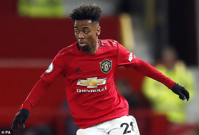 The 'A' is a tribute to ongoing United midfielder Angel Gomes, 19, who is set to leave the club
