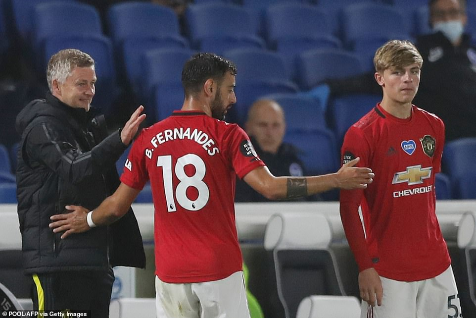 With the game won, Fernandes was substituted after an hour as Ole Gunnar Solskjaer gave him a rest