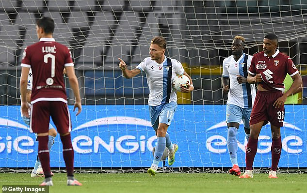 Immobile gave away a penalty but equalised on 48 minutes to pave the way for Lazio's win
