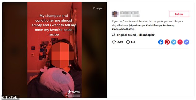 Reaching out: TikTok users who are in desperate need of support have been posting variations of the codes in their captions and hashtags