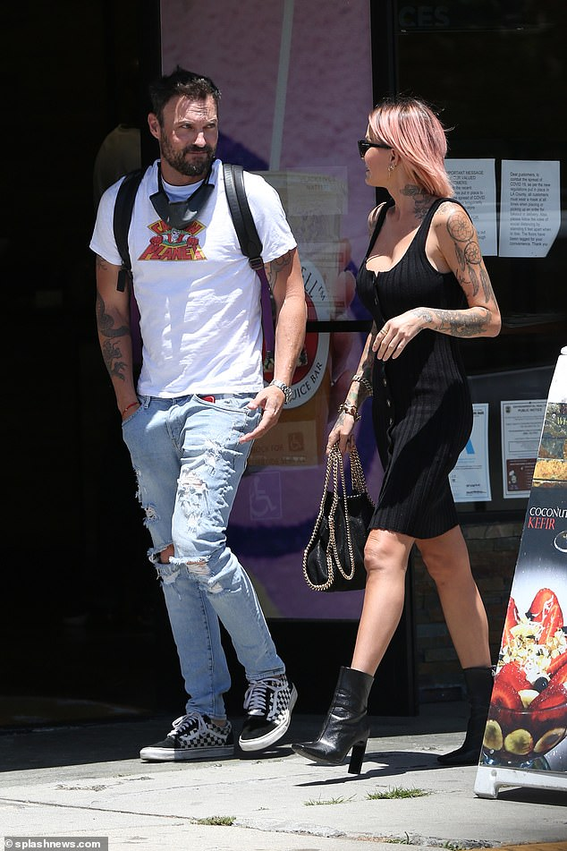 Date of lunch: With his ex-wife Megan Fox with rapper Machine Gun Kelly, Brian Austin Green enjoying the single life with a new date of lunch