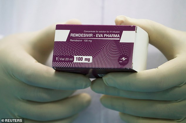 The US has bought almost the entire global supply of remdesivir (pictured), one of only two drugs proven to be effective against coronavirus