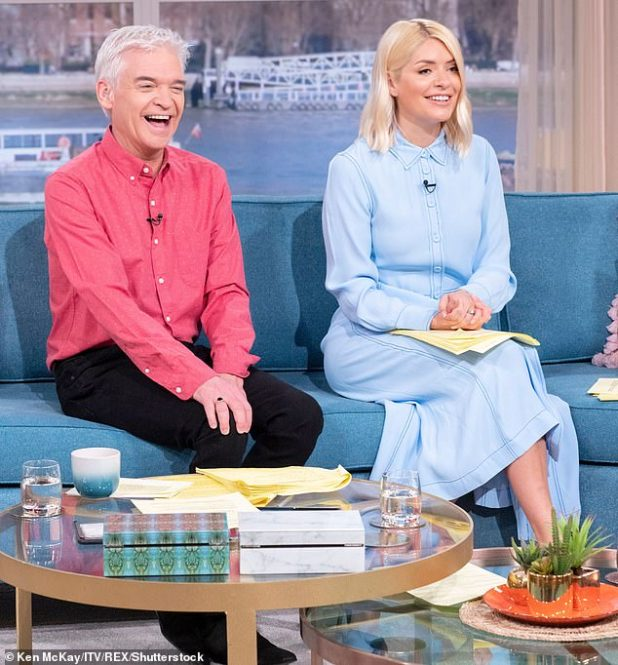 Ending? Sources claimed the presenter is being eyed by bosses as his 'golden handcuffs' deal with ITV is set to end in 2021 (pictured with Holly Willoughby on This Morning in March 2020)