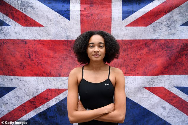 Alice Dearing (pictured) is the only BAME athlete in Britain's elite swimming programme