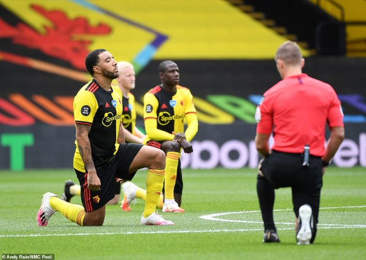 The dramatic about-turn came even though dozens of Premier League footballers have taken the knee - the symbol of the BLM movement - since the restart of the competition earlier this month