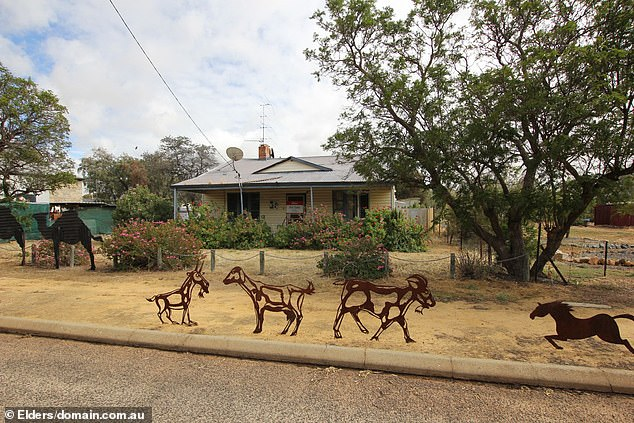 The homein Jeremy Street, Shackleton, 210km east of Perth, has a price tag of at least $35,000