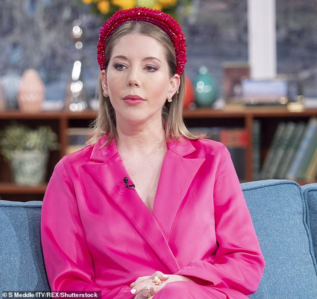 Pictured:Katherine Ryan appears on 'This Morning' TV show in London, UK on Jan 27 2020. Ryan is also known for her many appearances on '8 out of 10 cats' panel show and for her Netflix comedy special 'Glitter Room'