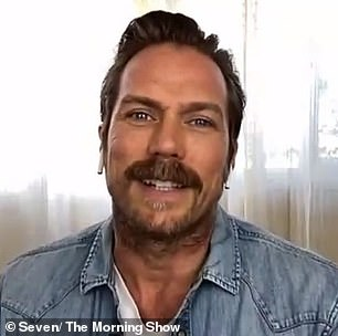 Remember me? Jason Lewis is pictured on The Morning Show on Wednesday