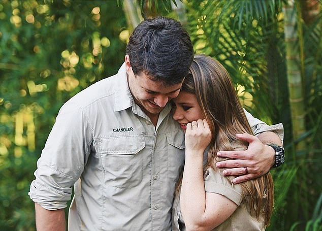 Honeymoon blues: Bindi and her husband Chandler forfeited the money for their honeymoon to keep the zoo operational