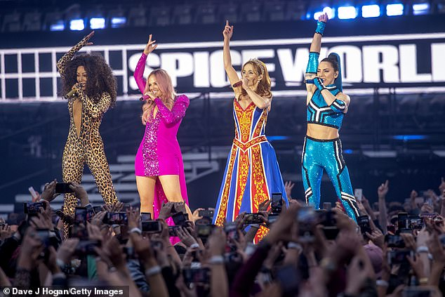 Savage! Ross compared the surge in COVID-19 cases in Victoria - which far exceeds spikes in other states and territories - to the dilemma facing British pop group the Spice Girls. Pictured from left: Melanie Brown, Emma Bunton, Geri Halliwell and Melanie Chisholm