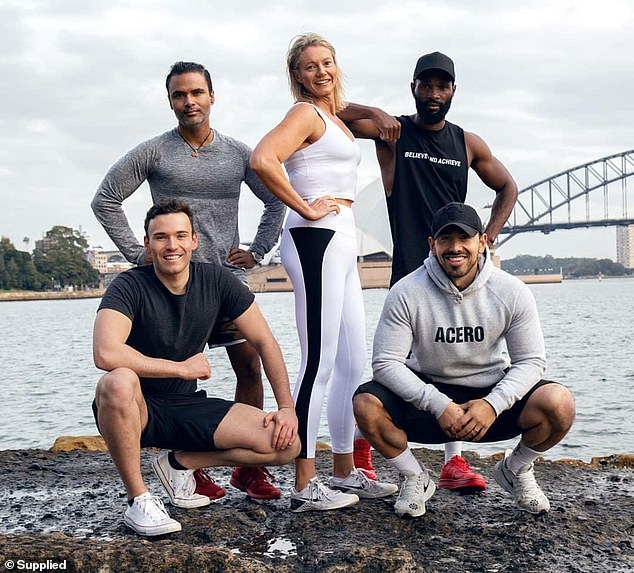 On June 29, 2020, Katie successfully completed 1,096 days of training at 4.30am with celebrity trainer Jono Castano Acero (bottom right), even in the face of gym closures during COVID-19