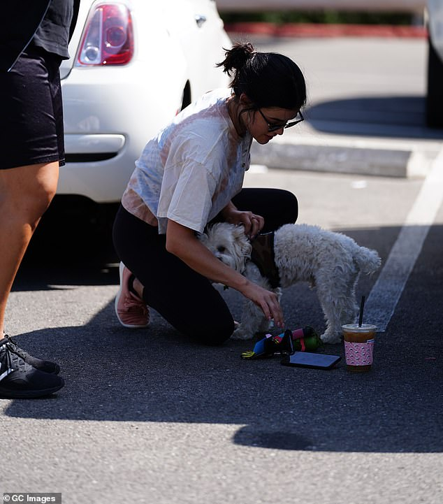 Tight bond: Lucy and Elvis have been seen out and about frequently together amid quarantine
