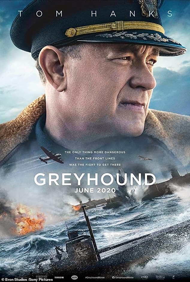 Coming soon: Greyhound was originally set to be released in theatres but as the pandemic continues, Apple purchased the film and it will premiere on Apple TV+ on July 10