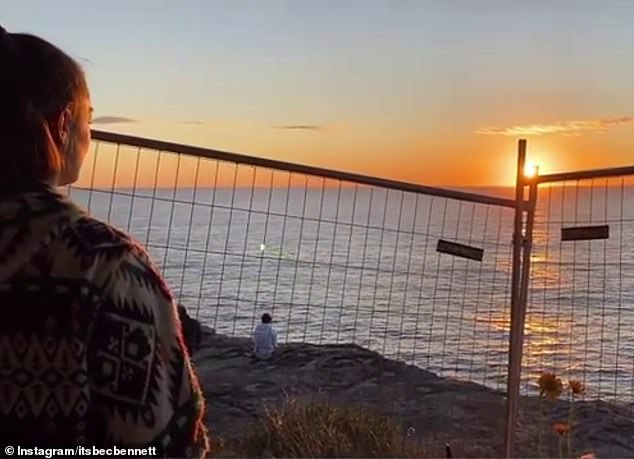 Bec Bennett, the best friend of Annika Ferry, has returned to the scene of her tragic death one week on. The 21-year-old posted this video online of her looking at the sunrise over the ocean