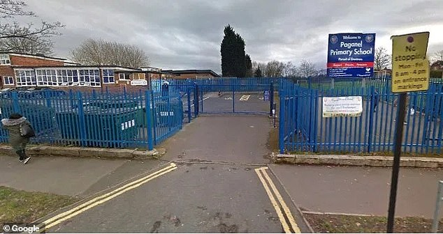 Paganel Primary School (above) in Selly Oak, Birmingham, temporarily closed yesterday after a year one pupil tested positive for Covid-19 and a teacher is suspected of having the virus