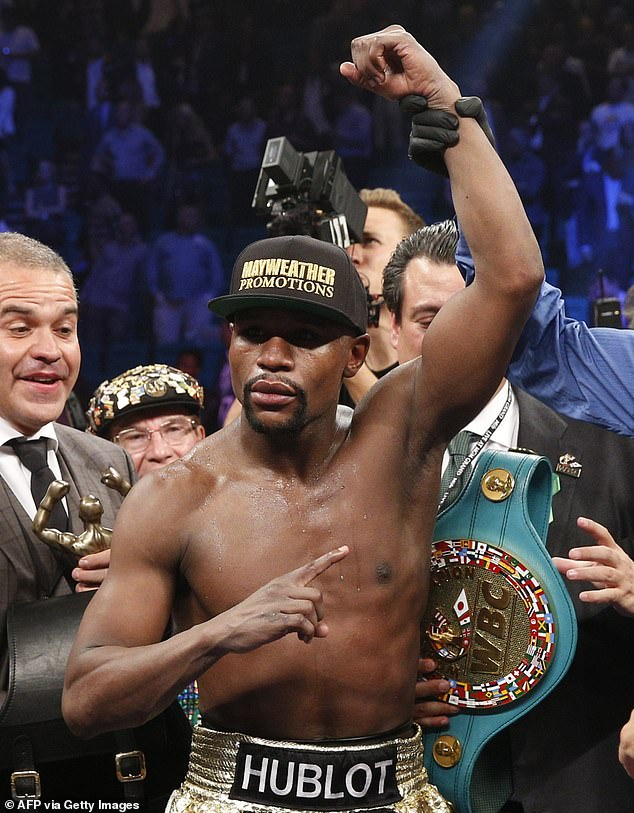 The 43-year-old Mayweather retired undefeated with 50 wins on his professional record