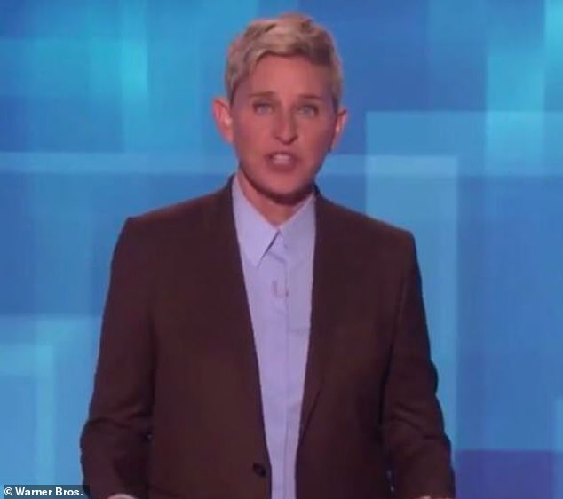 Controversy: Ellen has also taken flak for your hearing loss after the joke that the lock-down in his opulent mansion was