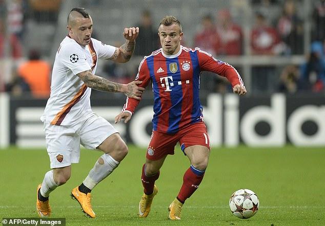 Shaqiri has added the Premier League title to three Bundesliga titles he won at Bayern Munich