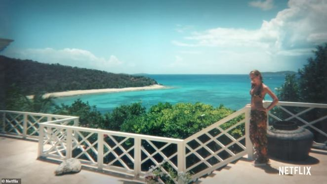 Scenes from Epstein's private island, in the U.S. Virgin Islands. He bought the island in 1998