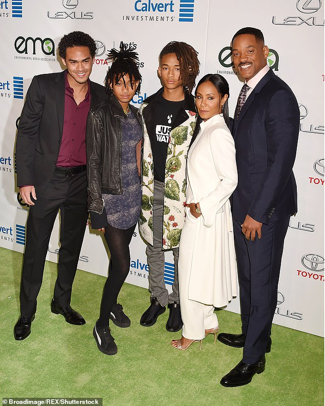 Open marriage? In 2013, Jada said during an interview that 'Will can do whatever he wants' prompting headlines that they had an open marriage (Trey Smith, Willow Smith, Jaden Smith, Jada Pinkett Smith, Will Smith in 2016)
