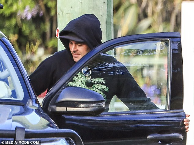 He's in good company! Zac Efron's Byron Bay entourage is revealed - and it includes a bevy of local stars like Chris Hemsworth