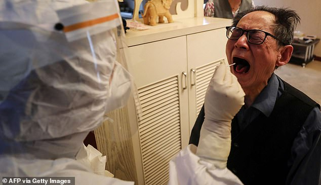 Taking proper swabs can be uncomfortable because they need to be pushed deep inside the throat and nose (file)