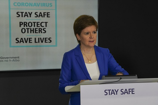 Ms Sturgeon said she wanted to weigh up the public health risks of the changes as the Holyrood said it had only been shown the UK Government plans at the 'last minute'