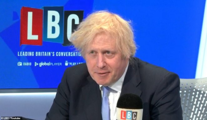 Speaking in a phone-in on LBC radio this morning, Boris Johnson said he wanted people to use the loosening of lockdown in England from tomorrow to 'enjoy summer' and decided pubs can open at 6am tomorrow