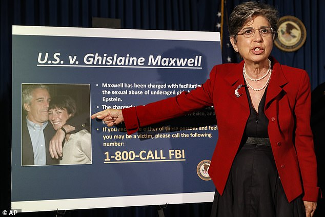 Audrey Strauss, Acting United States Attorney for the Southern District of New York, speaks during a news conference to announce charges against Ghislaine Maxwell yesterday