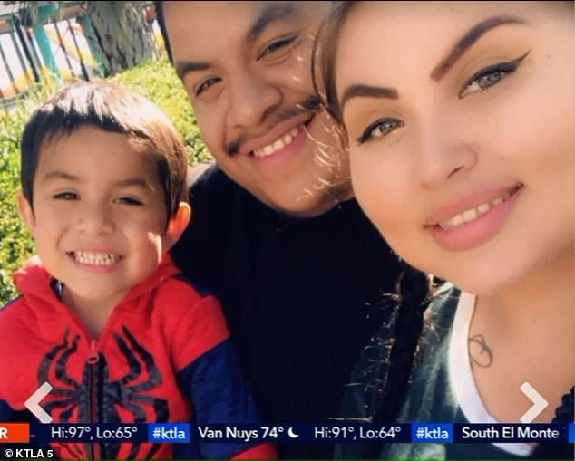 The great-grandmother of four-year-old Noah Cuatro (left), who was allegedly tortured and killed by his parents, Jose Maria Cuatro Jr, 28, and Ursula Elaine Juarez, 25 (pictured), has filed a wrongful death lawsuit against child services