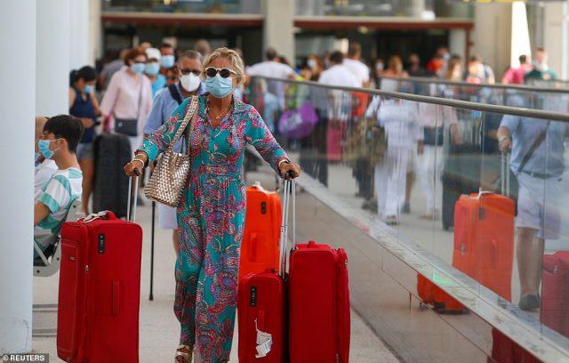 Passengers arrive to Palma de Mallorca airport, Spain amid the coronavirus crisis today