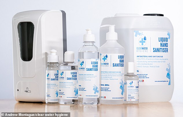 The sanitiser is produced at Deeside Gin Distillery in Banchory, Aberdeenshire and is bottled in Preston, Lancashire. It contains 80 per cent ethanol liquid making it suitable for use in hospitals, care homes and other public health facilities