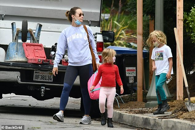 Hands-on parents!Olivia Wilde and her fiance Jason Sudeikis were in full parent mode in Los Angeles on Monday