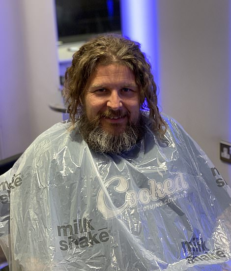 Cab driver Kai Ward, 51, was among the first people in England to receive a legal trim after booking an appointment at Lotus Styling in Bognor