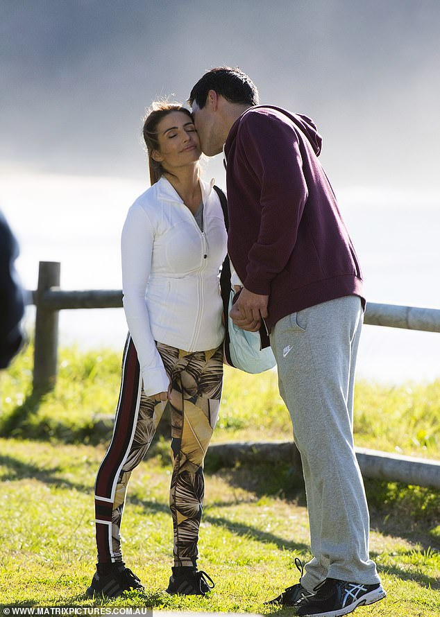 Quick smooch! The dialogue between the Leah and Justin appeared to wrap up as James gave Ada a kiss on the cheek