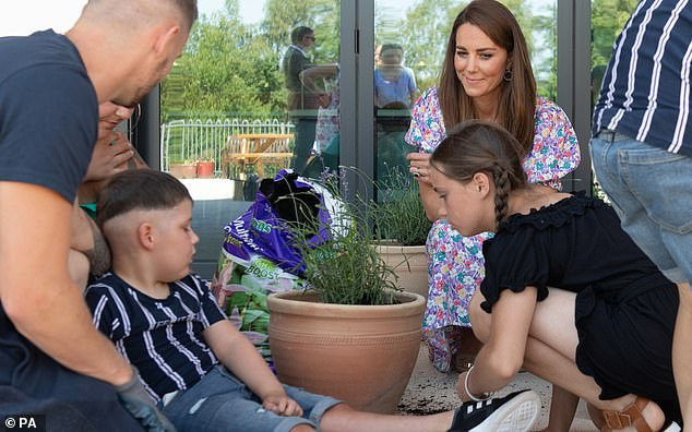 Hospice CEO Tracey Rennie spoke about Kate Middleton's recent visit to The Nook in Norfolk, and said it was `` her idea to help with gardening ''