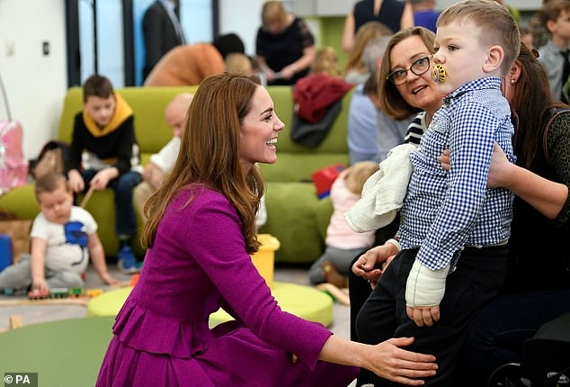 The Duchess has been a patron of the Hospices pour enfants d'East Anglia since 2012 and has regularly visited the establishment since (photo, during a visit in November 2019)