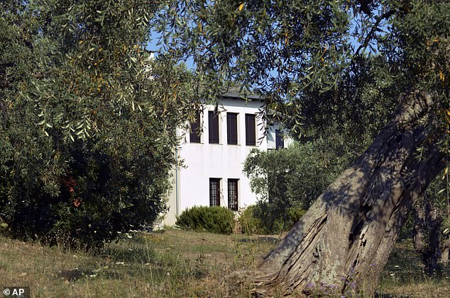A view of Villa Irene which belongs to Stanley Johnson in the village of Horto, Mount Pelion, central Greece