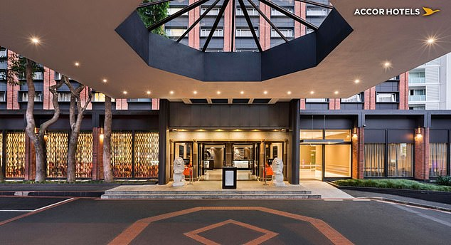 The 43-year-old woman ran away from the Pullman Hotel (pictured) in Auckland on foot at about 6.20pm on Saturday night