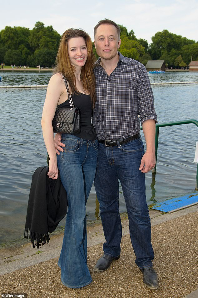 Riley and Musk are pictured together in 2011. The pair were married twice - once from 2010 -2012, and a second time from 2013- 2016