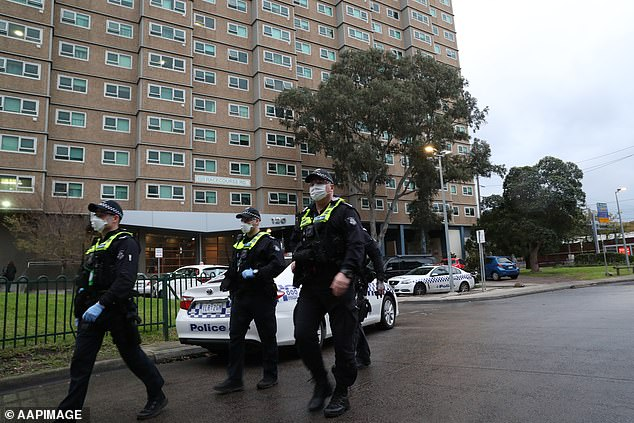 Some 3,000 public housing residents have been subjected to a 'hard lockdown' by the Victorian government in a bid to stop the spread of COVID-19 inside the walls of the towers