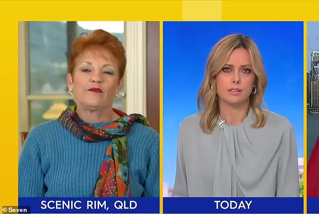 Pauline Hanson (left) was banned from her regular appearance on the Today show after a shocking rant about residents in Melbourne's public housing towers on Monday that led host Allison Langdon to ask: 'Do you have a heart Pauline?'