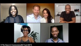 WATCH: Prince Harry Faces Criticism After Saying the Commonwealth 'Must Acknowledge Past Wrongs' Even If It's 'Uncomfortable' in Apparent Criticism of British Empire During Call with Meghan Markle to Young Leaders fromthe Queen's Commonwealth